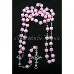 Rosario vidrio rosa/blanco...
