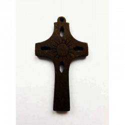 Cruz calada madera 47 x 26 mm
