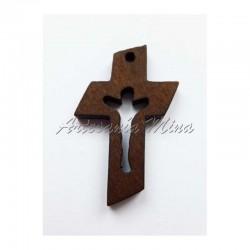 Cruz estilizada madera 36 x...