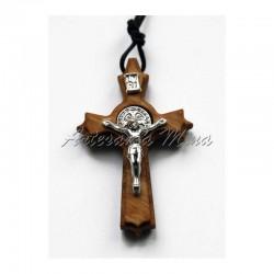 Crucifijo madera olivo San...