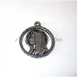 Medalla Virgen María 21 mm.
