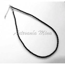 Cordón trenzado 43 cm negro...